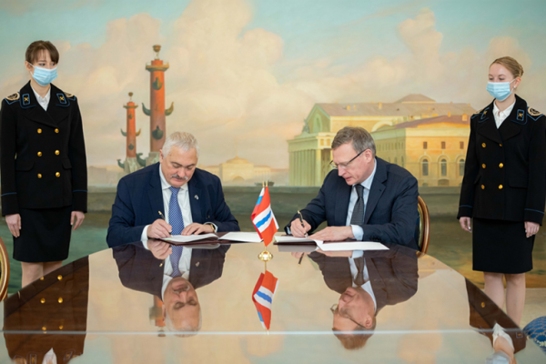 Gubkin University and the Government of the Omsk Region signed a cooperation agreement